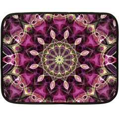Purple Flower Mini Fleece Blanket (two Sided) by Zandiepants