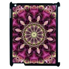 Purple Flower Apple Ipad 2 Case (black) by Zandiepants