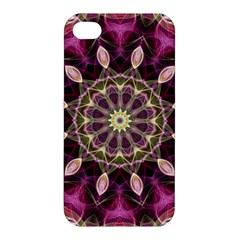 Purple Flower Apple Iphone 4/4s Hardshell Case by Zandiepants