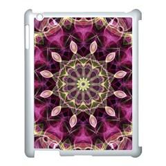 Purple Flower Apple Ipad 3/4 Case (white) by Zandiepants