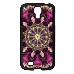 Purple Flower Samsung Galaxy S4 I9500/ I9505 Case (black) by Zandiepants