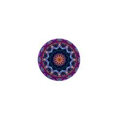 Purple Lotus 1  Mini Button Magnet