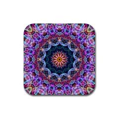 Purple Lotus Drink Coaster (square) by Zandiepants