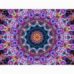 Purple Lotus Canvas 12  X 16  (unframed) by Zandiepants