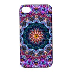 Purple Lotus Apple Iphone 4/4s Hardshell Case With Stand by Zandiepants