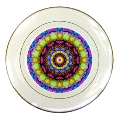 Rainbow Glass Porcelain Display Plate by Zandiepants