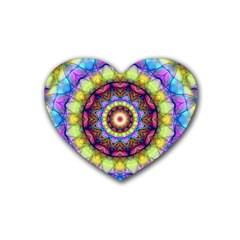 Rainbow Glass Drink Coasters (heart) by Zandiepants