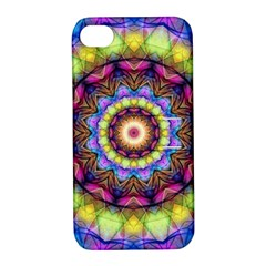 Rainbow Glass Apple Iphone 4/4s Hardshell Case With Stand by Zandiepants