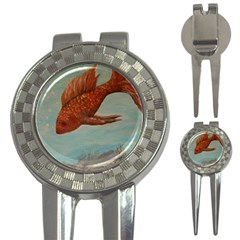 Gold Fish Golf Pitchfork & Ball Marker by rokinronda
