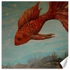 Gold Fish Canvas 12  X 12  (unframed) by rokinronda