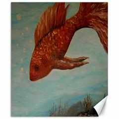 Gold Fish Canvas 20  X 24  (unframed) by rokinronda