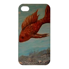 Gold Fish Apple Iphone 4/4s Hardshell Case by rokinronda