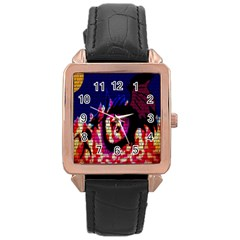My Dragon Rose Gold Leather Watch  by Rbrendes