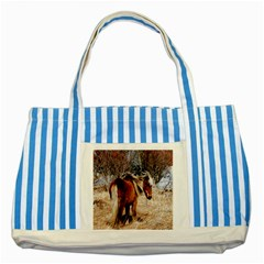 Pretty Pony Blue Striped Tote Bag by Rbrendes