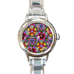 Bright Colors Round Italian Charm Watch by Rbrendes