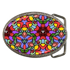 Bright Colors Belt Buckle (oval) by Rbrendes