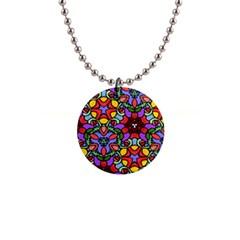 Bright Colors Button Necklace