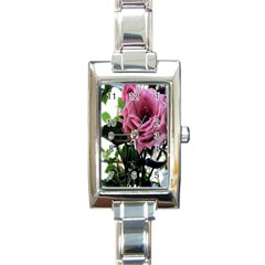 Rose Rectangular Italian Charm Watch by Rbrendes