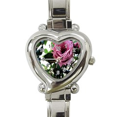 Rose Heart Italian Charm Watch  by Rbrendes