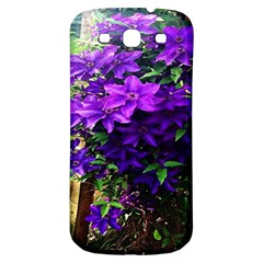 Purple Flowers Samsung Galaxy S3 S Iii Classic Hardshell Back Case by Rbrendes