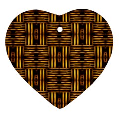 Bamboo Heart Ornament (Two Sides) by Rbrendes