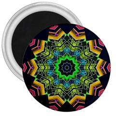 Big Burst 3  Button Magnet