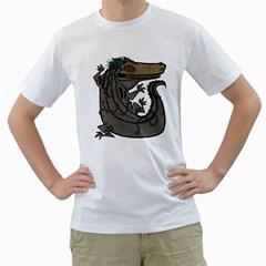 MIWITU THE CROCODILE Men s T-Shirt (White)  by Contest1920010