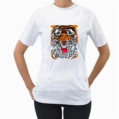 TIGER  Women s T-Shirt (White)  by Contest1918014