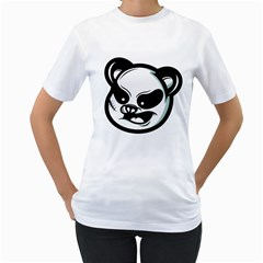Badass Panda Women s T-Shirt (White)  by Contest1915162