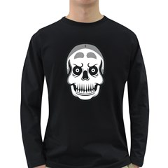 Skull Smile Men s Long Sleeve T Shirt (dark Colored) by Contest1915162