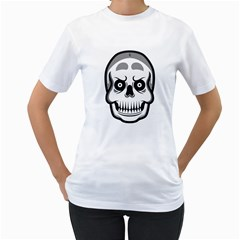 skull smile Women s T-Shirt (White)  by Contest1915162