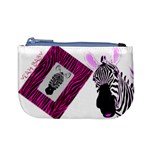 pink zebra - Mini Coin Purse