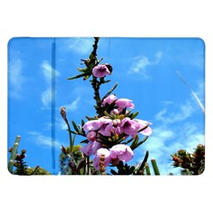 Pink Flower Samsung Galaxy Tab 8 9  P7300 Flip Case by Rbrendes