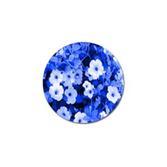 Blue Flowers Golf Ball Marker by Rbrendes
