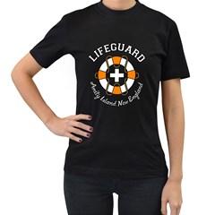 Lifeguard Amity Island Women s T Shirt (black) by chivieridesigns