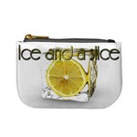 Ice and a slice after work drink bar relax chill lemon coin purse - Mini Coin Purse