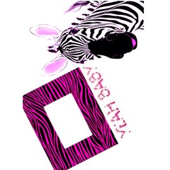 Pink Zebra Yeah Baby Greetings Card By Charley Heselti   Greeting Card 5  X 7    Ajw9nrm4mpd6   Www Artscow Com Front Cover