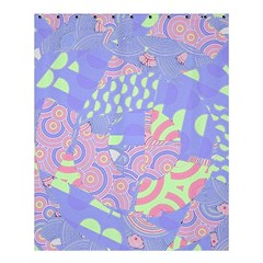 Girls Bright Pastel Summer Design Blue Pink Green Shower Curtain 60  X 72  (medium) by CrypticFragmentsColors