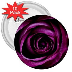 Deep Purple Rose 3  Button (10 Pack) by Colorfulart23