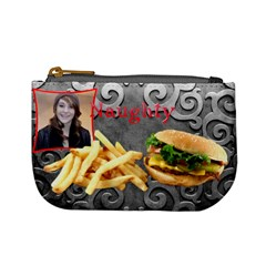 What s For Lunch   Burger Salad Naughty Good Coin Purse By Charley Heselti   Mini Coin Purse   Gj9kckybd3i5   Www Artscow Com Front