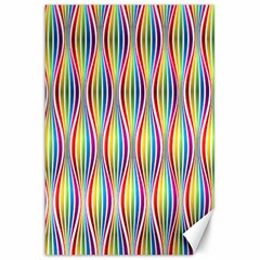 Rainbow Waves Canvas 20  X 30  (unframed) by Colorfulplayground