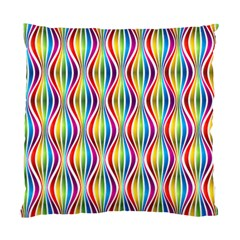 Rainbow Waves Cushion Case (two Sided)