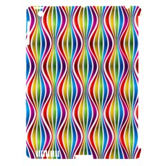 Rainbow Waves Apple Ipad 3/4 Hardshell Case (compatible With Smart Cover) by Colorfulplayground