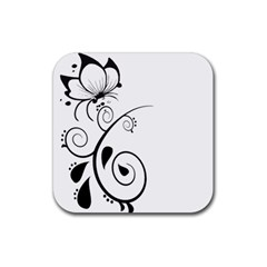 Floral Butterfly Design Drink Coasters 4 Pack (square) by OneStopGiftShop