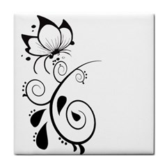 Floral Butterfly Design Face Towel by OneStopGiftShop