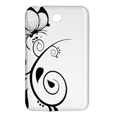 Floral Butterfly Design Samsung Galaxy Tab 3 (7 ) P3200 Hardshell Case