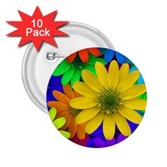Gerbera Daisies 2 25  Button (10 Pack) by StuffOrSomething