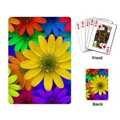 Gerbera Daisies Playing Cards Single Design by StuffOrSomething