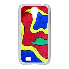 Abstract Samsung Galaxy S4 I9500/ I9505 Case (white) by Siebenhuehner