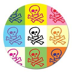 Skull Magnet 5  (round) by Siebenhuehner